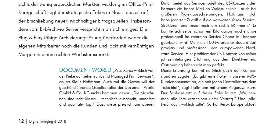 Document World setzt auf den BVl Archivio server