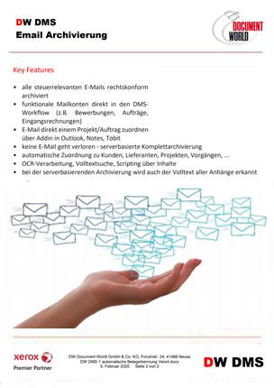 DW DMS E-Mail Archivierung