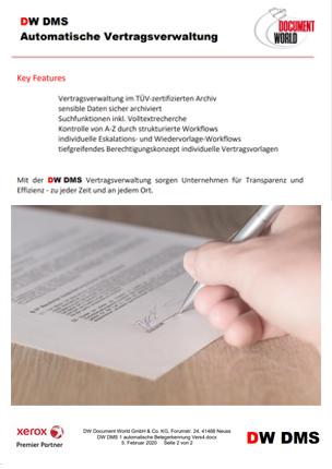 DW DMS Automatische Vertragsverwaltung